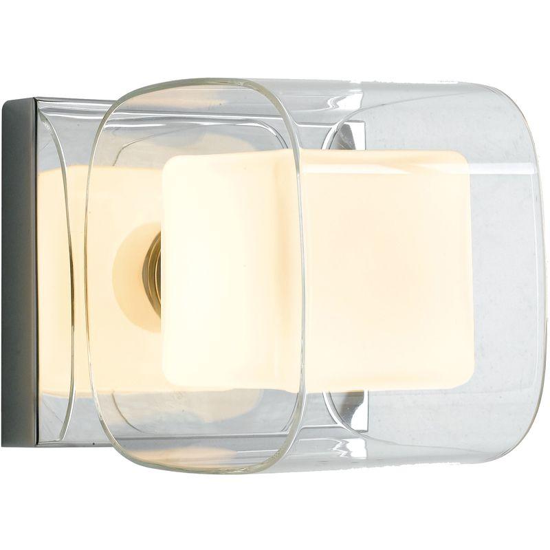 I yoga ap applique cubica metallo cromato vetro trasparente e