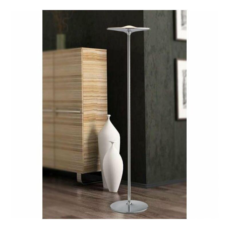 Shop-day - Lampada da terra Minimal Metallo Cromata Piantana Led 36 watt Luce Naturale