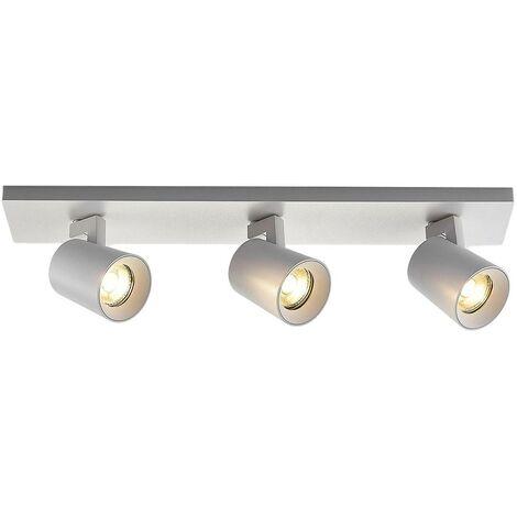 Iavo ceiling spotlight, adjustable, white, 3-bulb