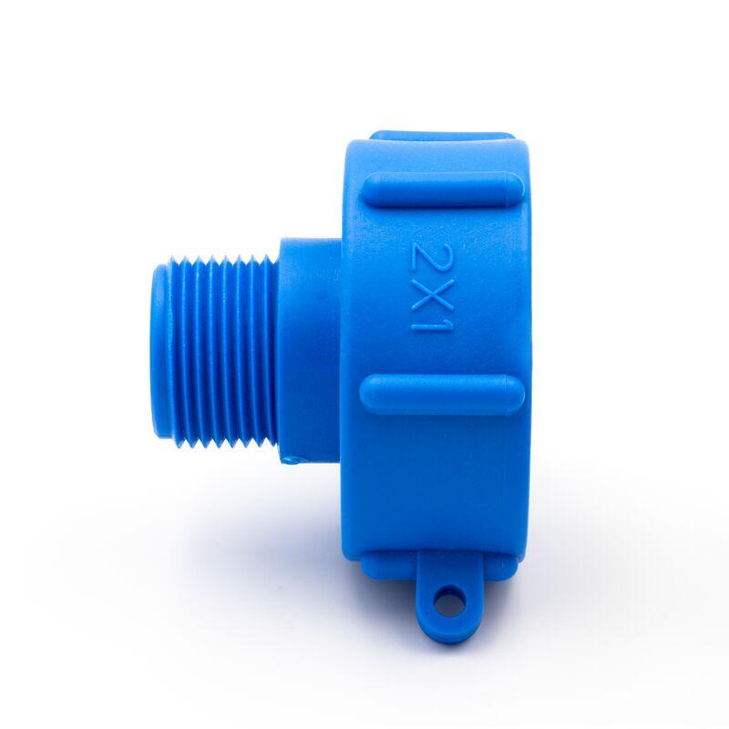 """IBC Adapter S60X6 mit 1//2/"""" Auslaufhahn Regenwasser Tank Wassertank Zubehör Neu"""