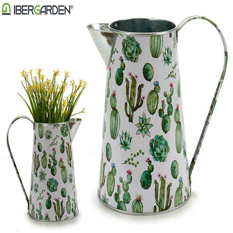 Ibergarden Macetero Metal (13 x 17 x 21 cm) Jarra Cactus