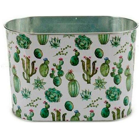 Ibergarden Macetero Metal Cactus (12,5 x 15,5 x 24 cm) Grande Ovalada