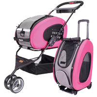 Ibiyaya Multifunction Pet Stroller 5 In 1 Pink