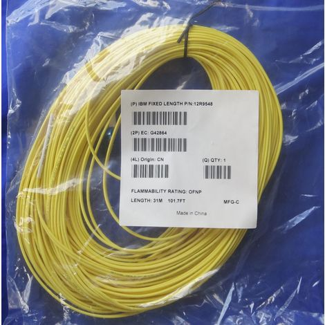 Ibm 12R9548 - 31 meters Cable Optical Fiber LC LC Duplex SM 50/125