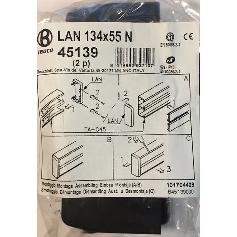 Iboco 45139 - LAN 134X55 N - 2 x tapas chute Instalaci