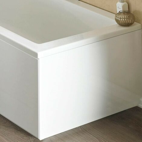 ICE 750mm White Gloss 1 Piece Bath End Panel