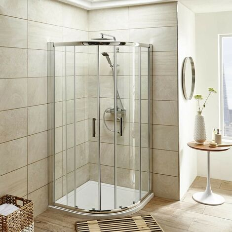 ICE 900mm Quadrant Shower Enclosure, Tray & Waste