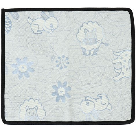 Ice Blue Silk Cooling Mat For Animals Fresh Blue S 35 X 31 Cm