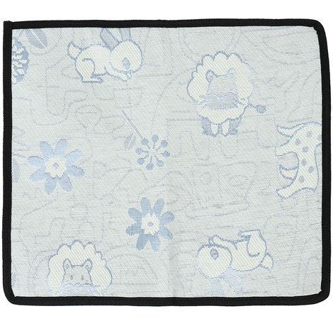 Ice Blue Silk Cooling Mat For Animals Fresh Blue S 35 X 31 Cm Hasaki