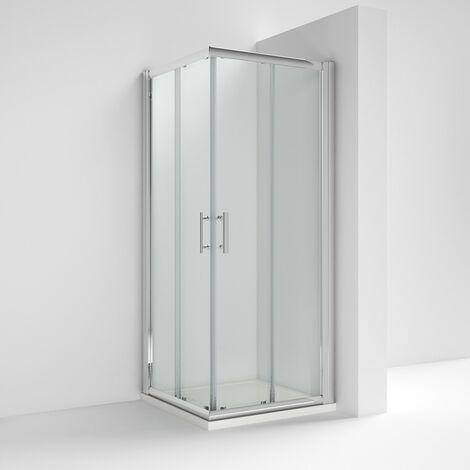 ICE Chrome 900mm Corner Entry Shower Enclosure - Enclosure Only