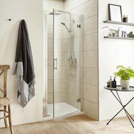 ICE Chrome 900mm Hinged Shower Door