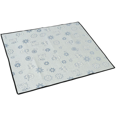 Ice Silk Cooling Mat For Fresh Animals Blue L 90 x 50 cm