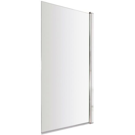 ICE Square Hinged Plain Bath Screen 6mm
