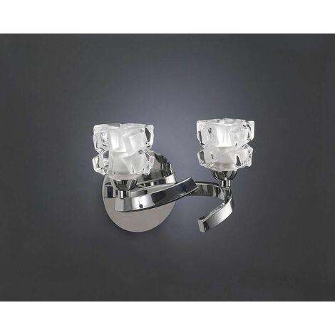 "main image of ""Ice wall light with switch 2 G9 ECO bulbs, polished chrome"""