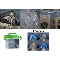 Icicle Snowing Lights - Christmas Xmas House Outdoor Fairy Effect Decor Outside
