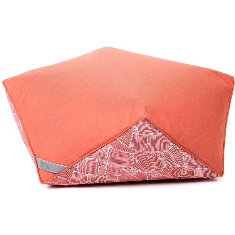 Icon ™ - icon Pouf 'Diamond', Tabourets d'intérieur et d'extérieur - Orange Terre Cuite, Grand, Résistant à l'eau, Poufs d'intérieur et d'extérieur