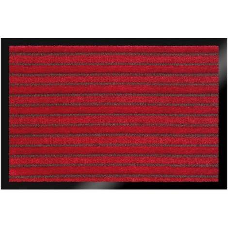 ID MAT - Tapis absorbant briomat rouge bordeaux - 60 x 80 cm