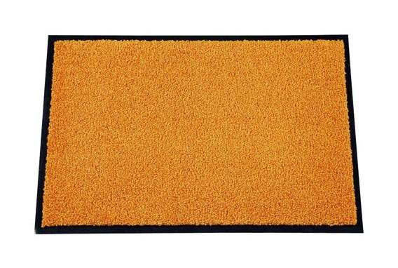 ID Mat Tapis Paillasson 40 x 60 cm Fibres Nylon sur Semelle PVC caoutchout/é Orange
