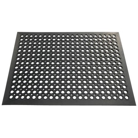 ID MAT - Tapis Caillebotis - 60x80 cm - noir