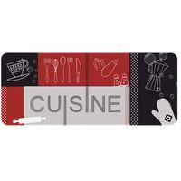 ID MAT   Tapis De Cuisine   50x120 Cm   Cuisine   Rouge Et Noir