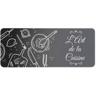 ID MAT - Tapis de cuisine - 50x120 cm - L'art de la cuisine