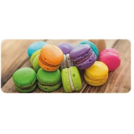 ID MAT - Tapis de cuisine - 50x120 cm - Macarons