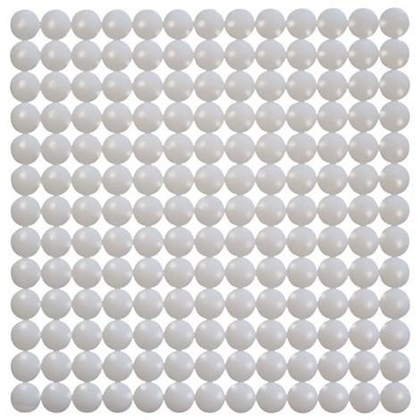 ID MAT - Tapis de fond d'évier bulles - blanc
