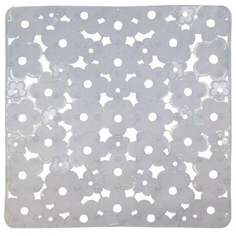 ID MAT - Tapis de fond d'évier carré anti-dérapant - 32x32 cm - cristal transparent