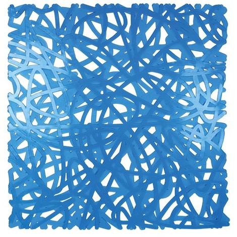 ID MAT - Tapis de fond d'évier mixy - bleu