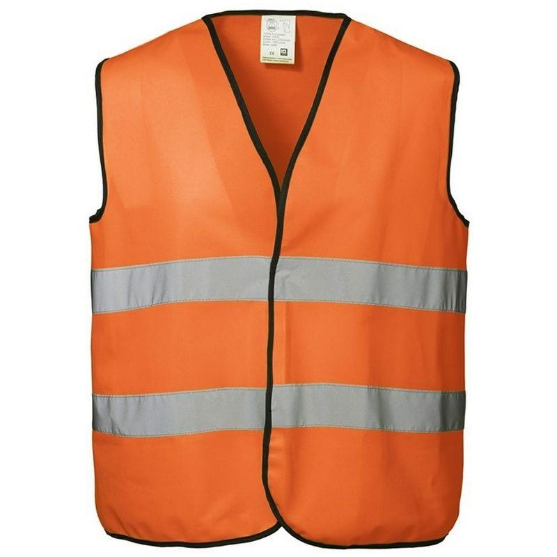 Image of Unisex Hi Visibility Fluorescent Loose Fitting Worker Vest (L/XL) (Fluorescent orange) - ID