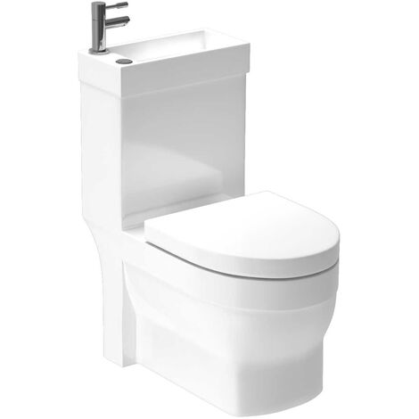 """main image of """"Ideal 2 in 1 Combination Toilet and Basin Suite with Soft Close Toilet Seat and Mono Basin Mixer Tap"""""""