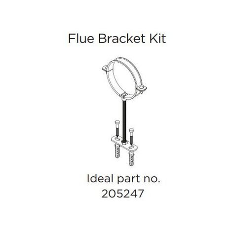 Ideal 205247 flue Bracket