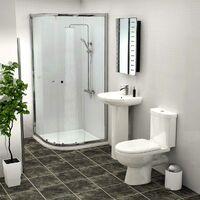 Ideal 900mm Quadrant Shower Enclosure Suite