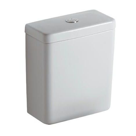 Ideal Cisterna estándar Cubo 6litros E7971, entrada lateral, color: Blanco con Ideal Plus - E7971MA