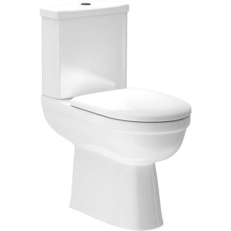 Ideal Comfort Height Close Coupled Toilet With Soft Close Seat