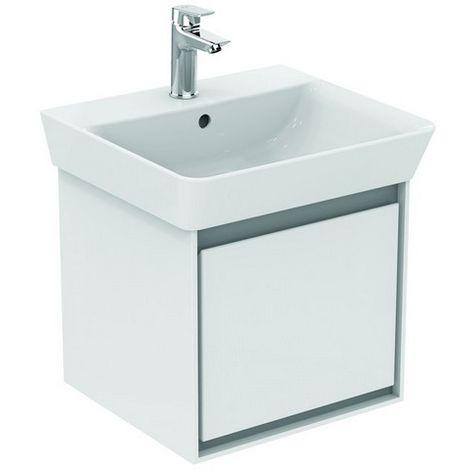 Ideal CONNECT Air Vanity unidad, 435mm, 1 cajón, E0842, color: Blanco brillante / gris claro mate - E0842KN