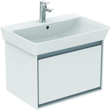 Ideal CONNECT Air Vanity unidad, 585mm, 1 cajón, E0847, color: Blanco brillante / gris claro mate - E0847KN