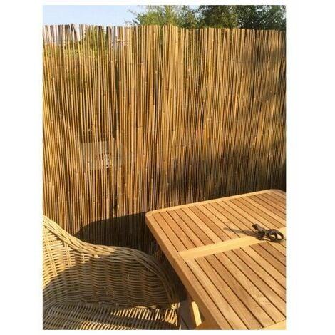 IDEAL GARDEN Canisse Bambou Sty'l Resist - Fil de fer galvanisé - 1 x 3 m