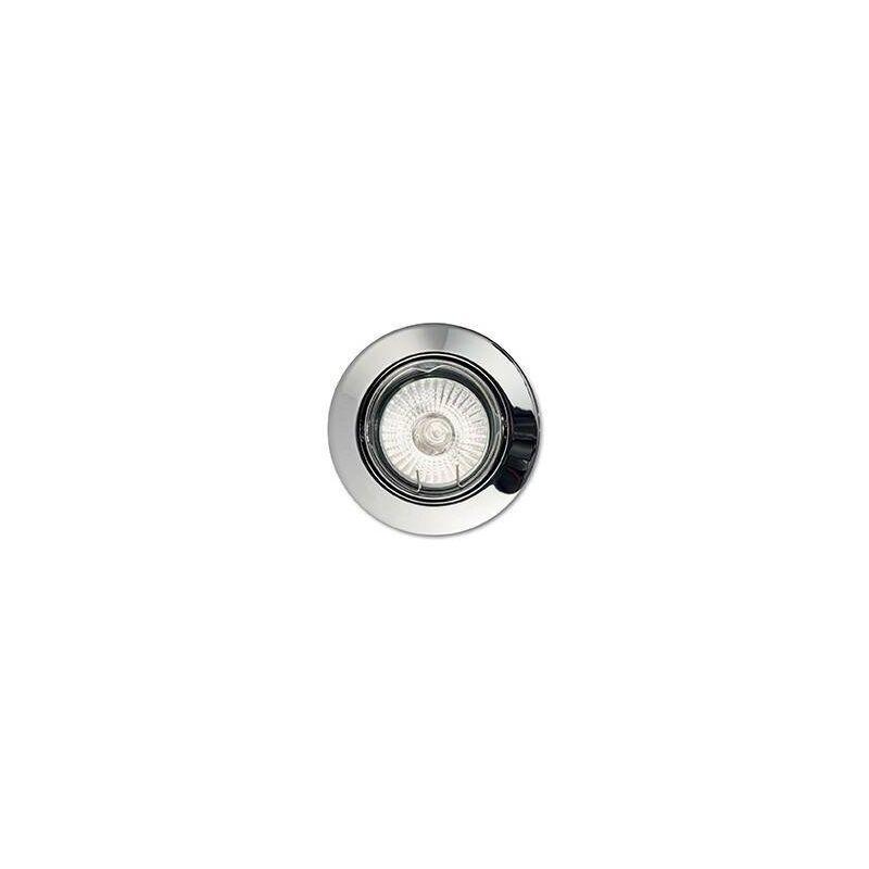 Image of Ideal Lux - 1 Light Tiltable Recessed Spotlight (3 Pack) Chrome, GU10