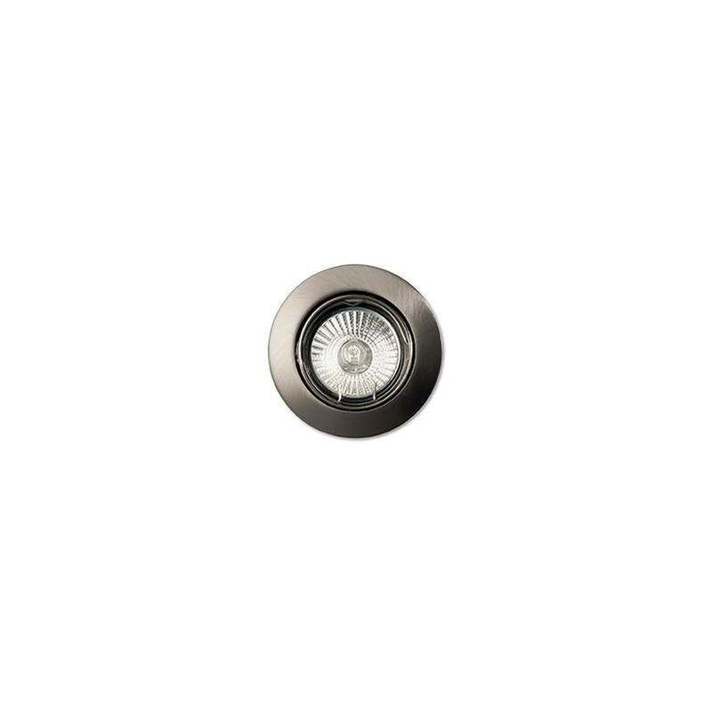 Image of Ideal Lux - 1 Light Tiltable Recessed Spotlight (3 Pack) Nickel, GU10