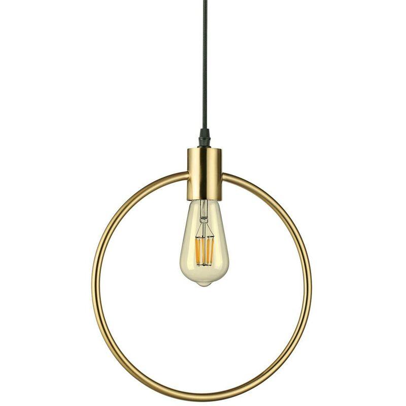 Image of Ideal Lux Abc - 1 Light Ceiling Pendant Antique Brass, E27