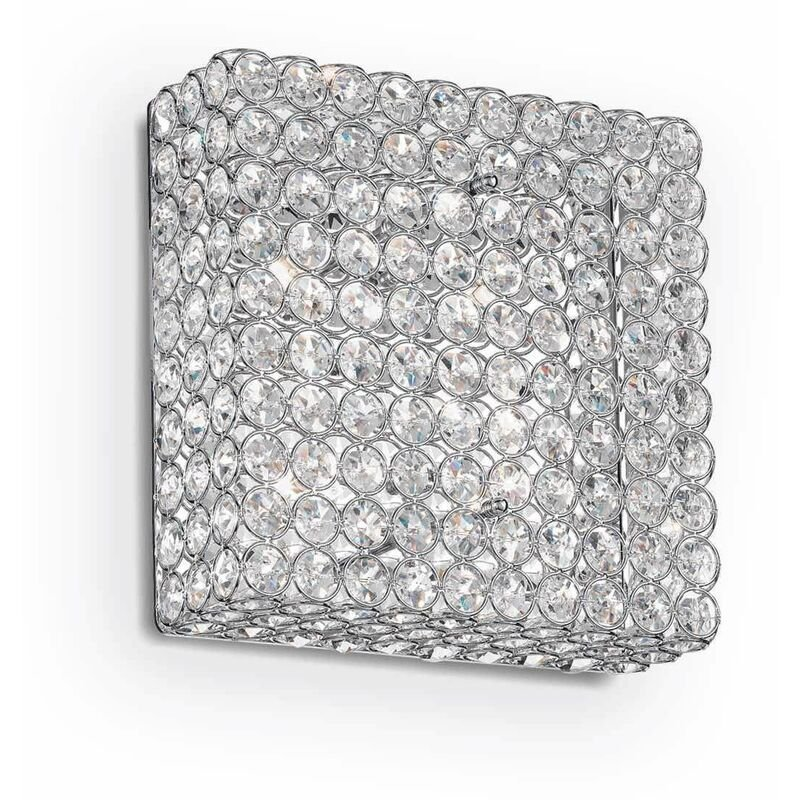 Image of ADMIRAL chrome crystal ceiling light 4 bulbs