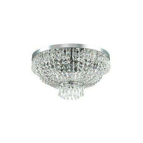 Ideal Lux Caesar - 6 Light Ceiling Flush Light Chrome, Crystal, G9