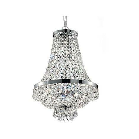 Ideal Lux Caesar - 6 Light Crystal Chandelier Chrome Finish, G9
