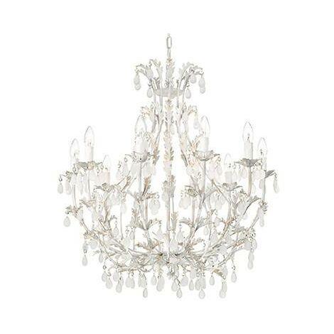 Ideal Lux Cascina - 10 Light Chandelier Gold, White Finish, E14