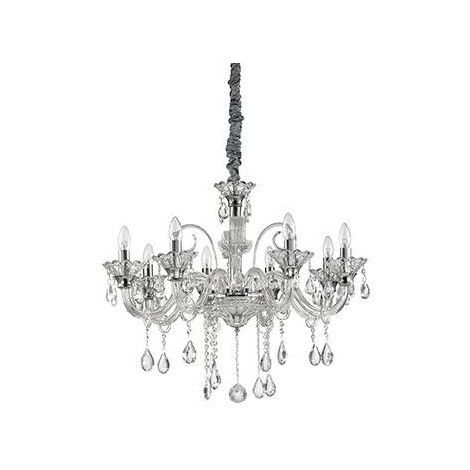 Ideal Lux Colossal - 8 Light Chandelier Clear Glass, E14