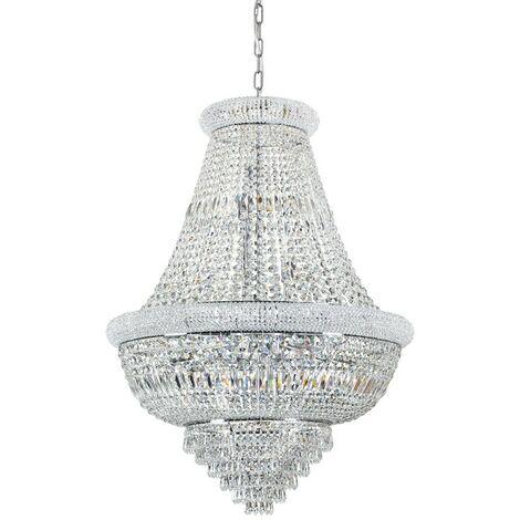 Ideal Lux DUBAI - Indoor Ceiling Chandelier Pendant Lamp 24 Lights Chrome, E14