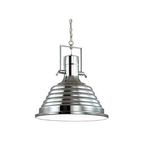 Ideal Lux Fisherman - 1 Light Dome Ceiling Pendant Chrome, E27