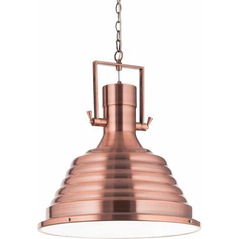 Ideal Lux Fisherman - 1 Light Dome Ceiling Pendant Copper, E27
