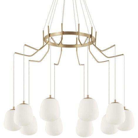 Ideal Lux Karousel - Light Cluster Ceiling Pendant Brass Sat